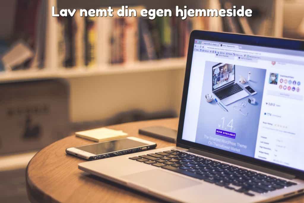 Lav nemt din egen hjemmeside